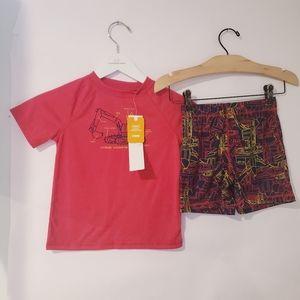 NWT gymboree xs 4 excavator pajama set shorts